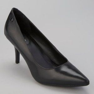 Calvin Klein Point Toe Pumps Nadine Black Leather